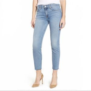 7 For All Mankind Roxanne Raw hem ankle jean 28